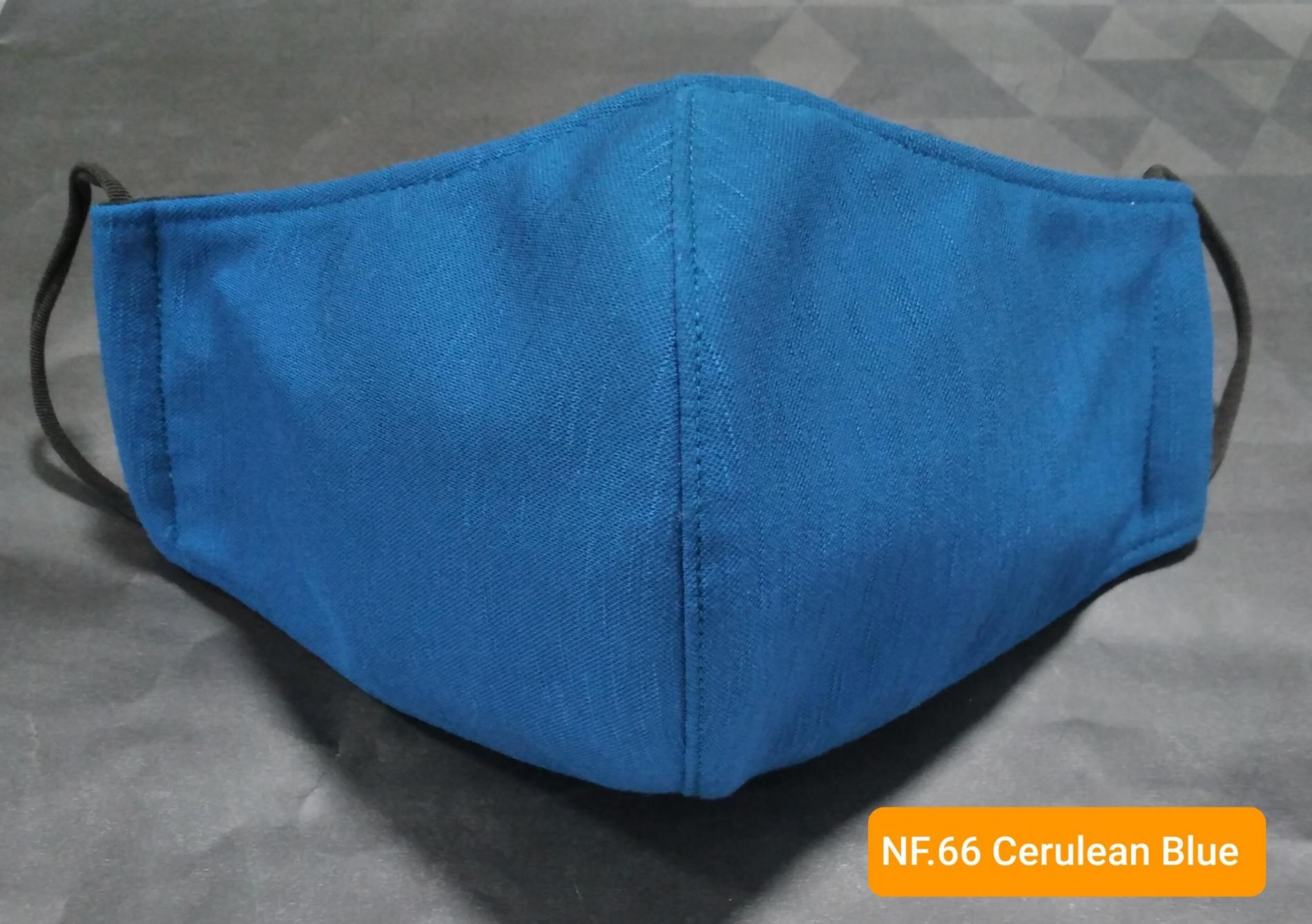 Mẫu Khẩu Trang Vải NF 66 Cerulean Blue