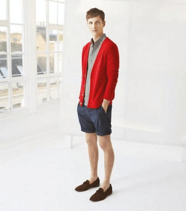 Giày lười vải và quần short