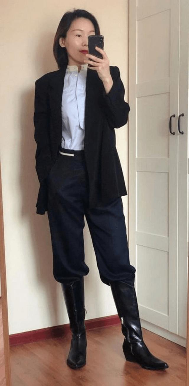 Boots cổ ngắn cao gót